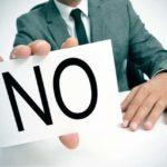 Thư từ chối nhận việc thẳng thắn đơn giản