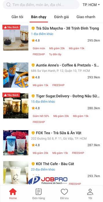 DeliveryNow ứng dụng đặt đồ ăn trực tuyến hàng đầu Việt Nam!